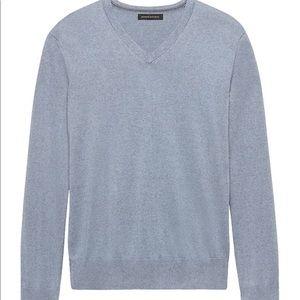 Banana Republic Light Blue V-Neck Sweater